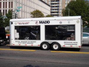 MADD DUI education trailer