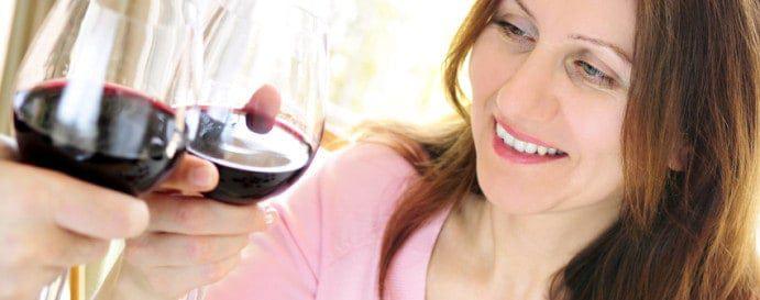 women drinking image