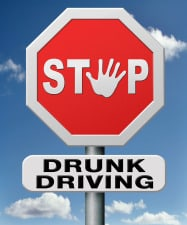 Stop drunk driving sign