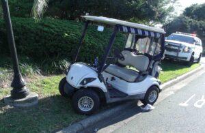 drunk driving golf cart